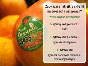 kody owoce gmo